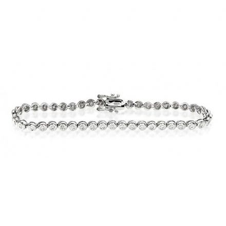 9K White Gold 1.00ct Diamond Bracelet, G1152